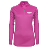 Ladies Syntrel Interlock Raspberry 1/4 Zip-Cragar