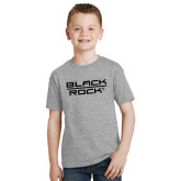 Youth Grey T Shirt-Black Rock