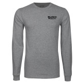 Grey Long Sleeve T Shirt-Black Rock