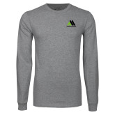 Grey Long Sleeve T Shirt-Marastar