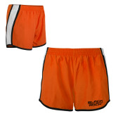 Ladies Orange/White Team Short-Black Rock