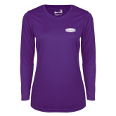 Ladies Syntrel Performance Purple Longsleeve Shirt-Cragar