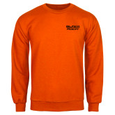Orange Fleece Crew-Black Rock