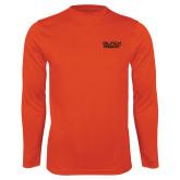 Performance Orange Longsleeve Shirt-Black Rock