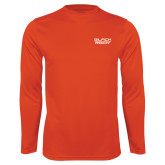Performance Orange Longsleeve Shirt-Black Rock