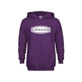Youth Purple Fleece Hoodie-Cragar