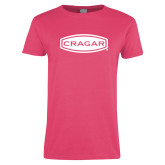 Ladies Fuchsia T Shirt-Cragar