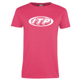 Ladies Fuchsia T Shirt-ITP