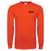 Orange Long Sleeve T Shirt-Black Rock
