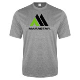 Performance Grey Heather Contender Tee-Marastar