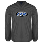 V Neck Charcoal Raglan Windshirt-ITP