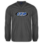 V Neck Charcoal Raglan Windshirt-ITP