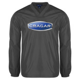 V Neck Charcoal Raglan Windshirt-Cragar