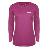 Ladies Syntrel Performance Raspberry Longsleeve Shirt-Cragar