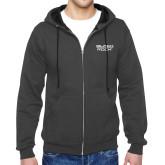 Charcoal Fleece Full Zip Hoodie-Black Rock
