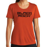 Ladies Syntrel Performance Orange Tee-Black Rock