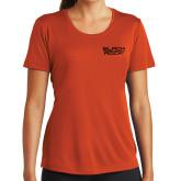Ladies Performance Orange Tee-Black Rock