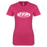 Ladies SoftStyle Junior Fitted Fuchsia Tee-ITP