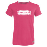 Ladies Russell Pink Essential T Shirt-Cragar