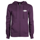 ENZA Ladies Purple Fleece Full Zip Hoodie-Cragar