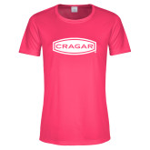 Ladies Performance Hot Pink Tee-Cragar