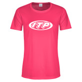 Ladies Performance Hot Pink Tee-ITP