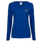 Ladies Royal Long Sleeve V Neck Tee-ITP