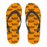 Full Color Flip Flops-Black Rock