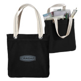 Allie Black Canvas Tote-Cragar