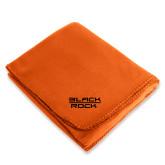 Orange Arctic Fleece Blanket-Black Rock