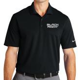 Nike Golf Dri Fit Black Micro Pique Polo-Black Rock