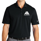 Nike Golf Dri Fit Black Micro Pique Polo-Marastar
