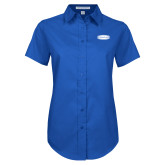Ladies Royal Twill Button Up Short Sleeve-Cragar