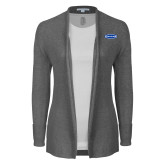 Ladies Heather Grey Open Front Cardigan-Cragar