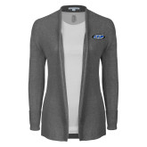 Ladies Heather Grey Open Front Cardigan-ITP