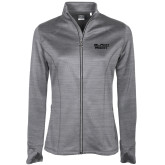 Ladies Callaway Stretch Performance Heather Grey Jacket-Black Rock