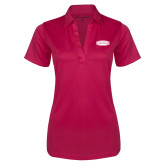 Ladies Pink Raspberry Silk Touch Performance Polo-Cragar