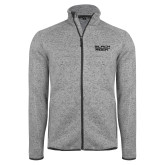 Grey Heather Fleece Jacket-Black Rock