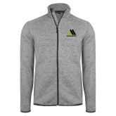 Grey Heather Fleece Jacket-Marastar
