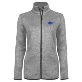 Grey Heather Ladies Fleece Jacket-Cragar