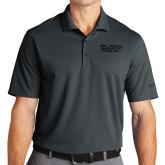 Nike Golf Dri Fit Charcoal Micro Pique Polo-Black Rock