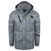 Grey Brushstroke Print Insulated Jacket-Marastar