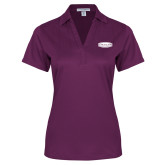 Ladies Purple Performance Fine Jacquard Polo-Cragar