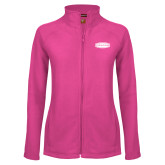 Ladies Fleece Full Zip Raspberry Jacket-Cragar
