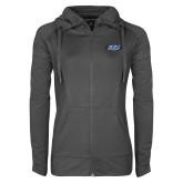 Ladies Sport Wick Stretch Full Zip Charcoal Jacket-ITP