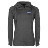 Ladies Sport Wick Stretch Full Zip Charcoal Jacket-Carlisle