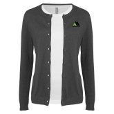 Ladies Charcoal Cardigan-Marastar