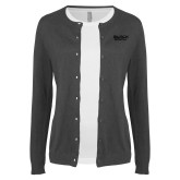 Ladies Charcoal Cardigan-Black Rock