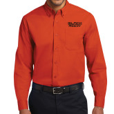 Orange Twill Button Down Long Sleeve-Black Rock