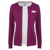 Ladies Deep Berry Cardigan-Cragar
